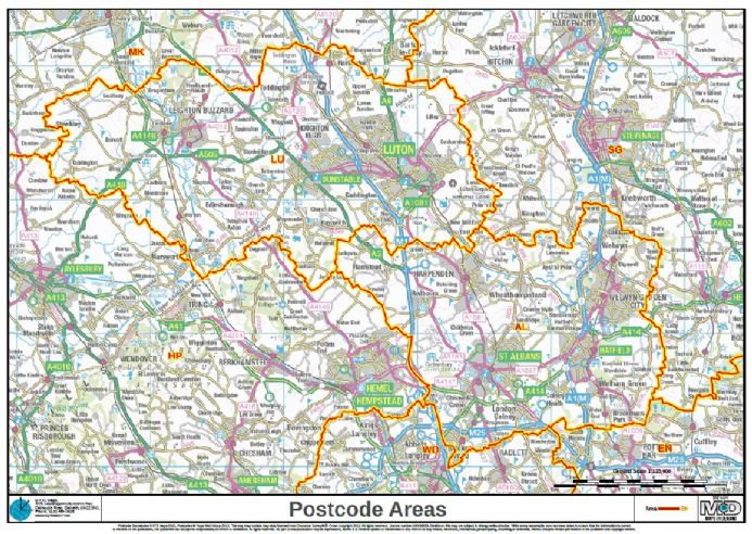 Build Your Own Map Postcode Areas Map